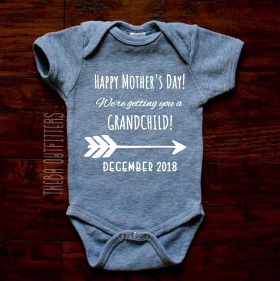 ba8be9989 Grandparents Pregnancy Announcement ONESIE®, Grandma Grandpa Pregnancy  Announcement Gift for Grandpa