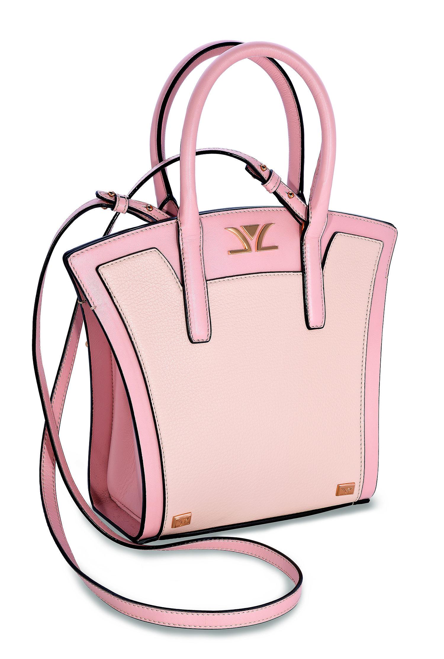 126d6dcd6 NOW AVAILABLE ONLINE! Le Vian Luxury™ Peach & Nude™ Liz Mini Crossbody  Handbag in Italian Pebbled Leather