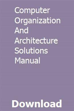Handbuch für Computerorganisation und Architekturlösungen pdf download