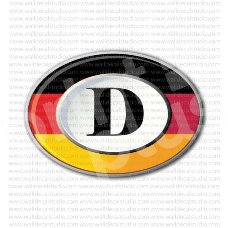 Deutschland D Germany Flag Sticker Germany Flag Sticker Flag Patriotic Symbols