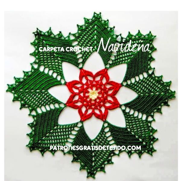 Christmas Doily Pattern Decoraiuni Crciun Pate Pinterest