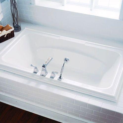 Town Square 72 X 42 Drop In Soaking Bathtub Bathtub Surround Soaking Bathtubs Bathtub