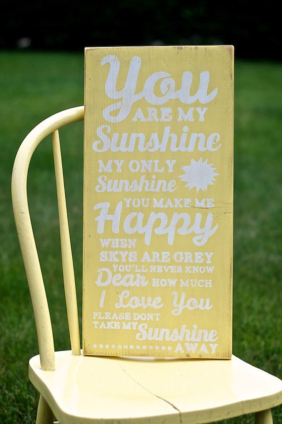 You Are My Sunshine Wall Art Distressed by StressedOutFrames ...