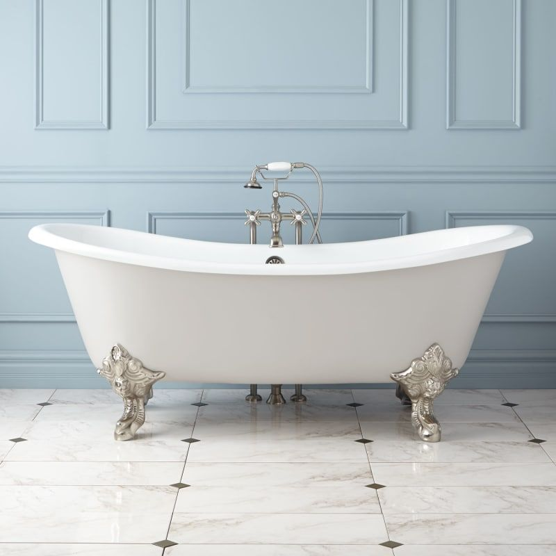 Signature Hardware 931045 72 Lena 72 Cast Iron Clawfoot Tub With