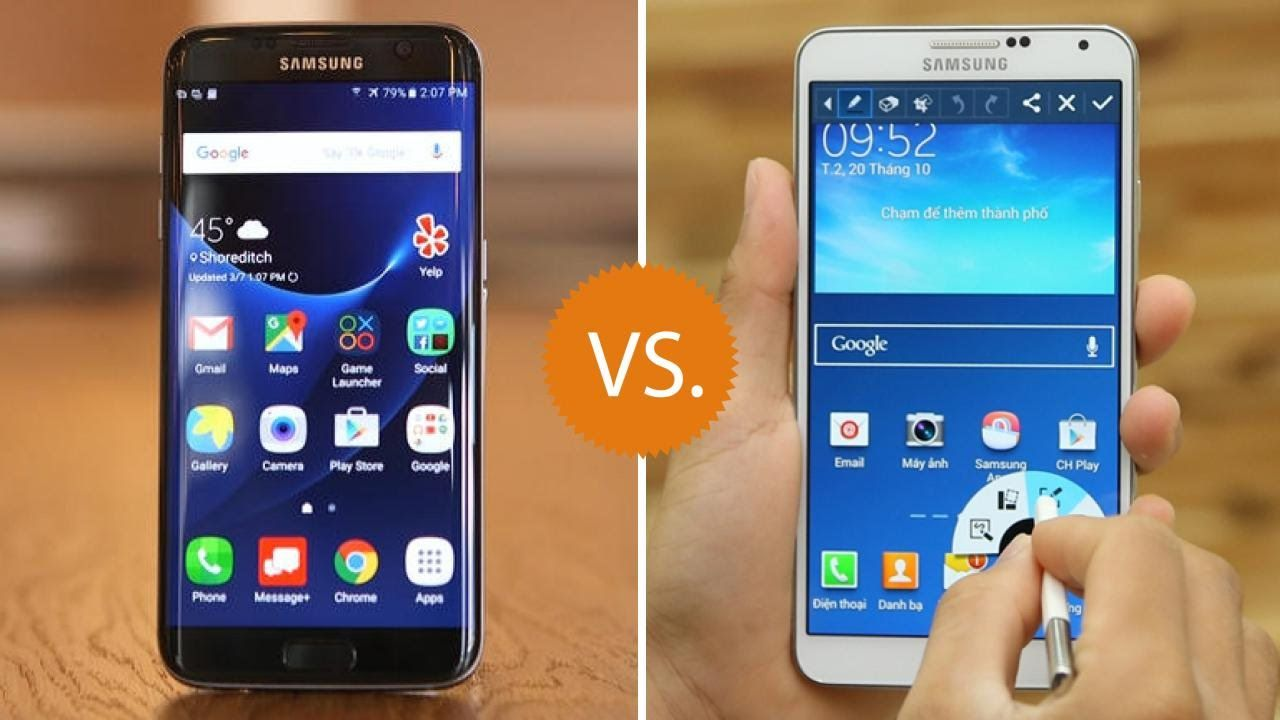 Samsung Galaxy S7 Edge Vs Samsung Galaxy Note 3