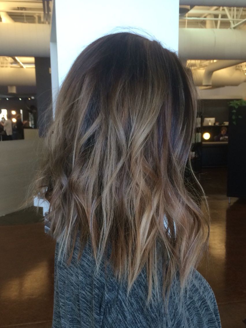 Balayage, hi lights, ash colormelt. Bronde lob. | My Hair ...
