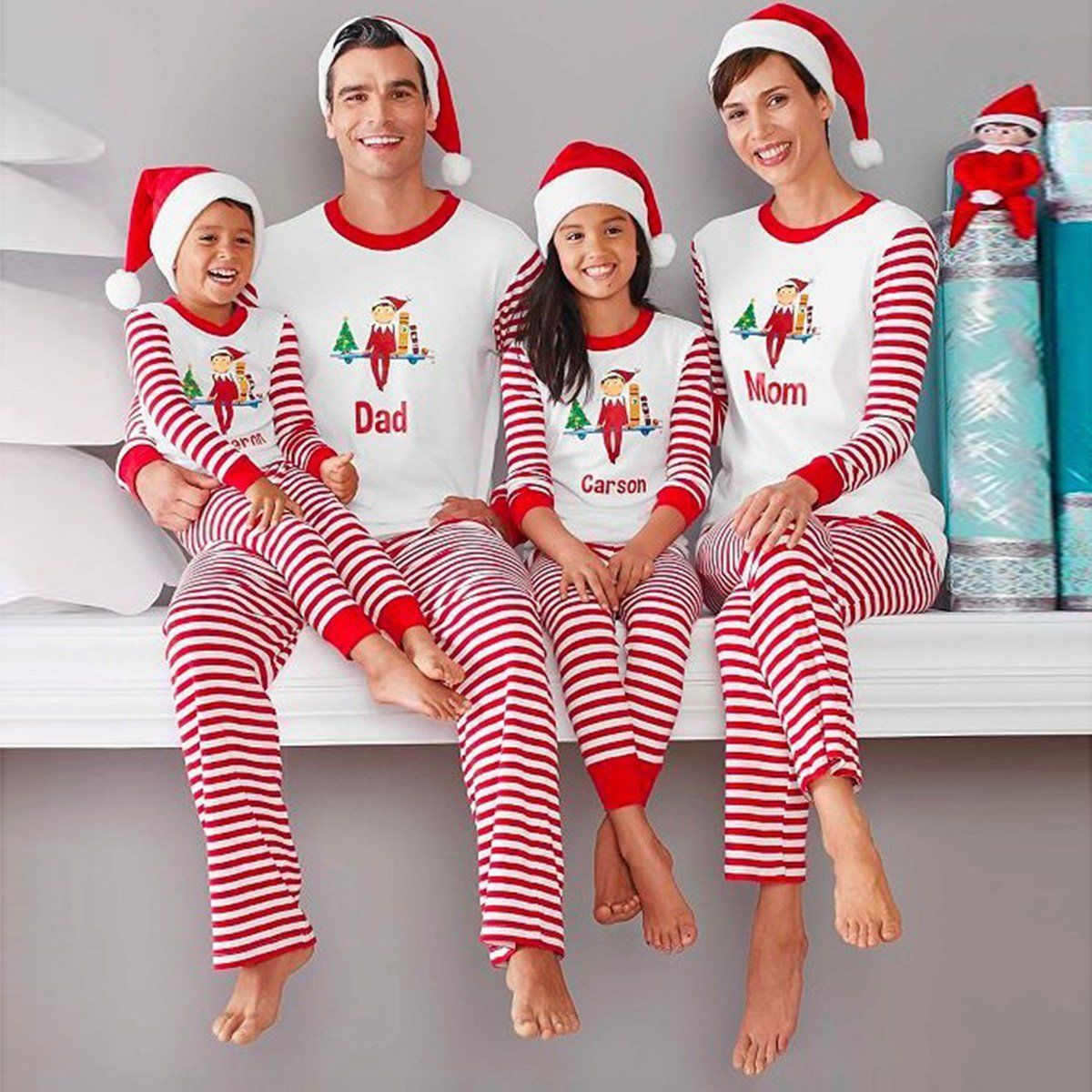 6.99 - Family Matching Christmas Pajamas Set Men s Women Kids Xmas  Sleepwear Nightwear  ebay  Fashion 2f2f3d04e