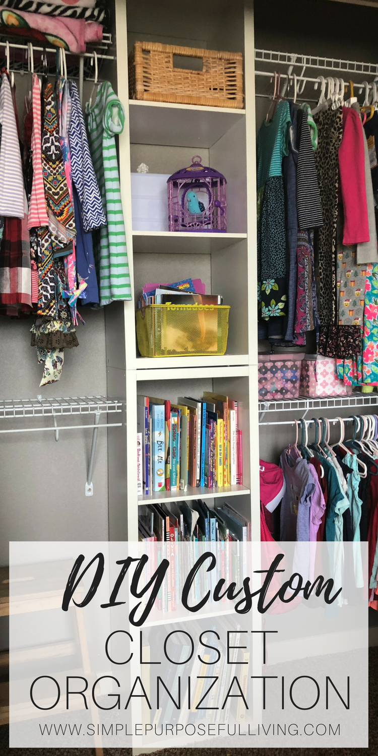 Taking A Builder Basic Closet And Making Custom Diy Organization System That Maximizes E Creates Room For Two Kids In Shared Bedroom