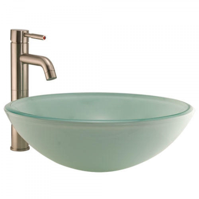 Tea Green Glass Vessel Sink Interior Ideas Pinterest Bathroom