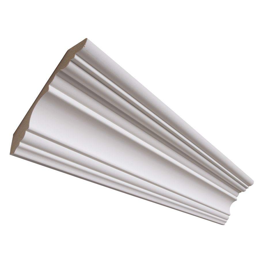 4 1 4 In X 12 Ft Painted Mdf Crown Moulding Actual 4 25 In X 12 Ft L 326 12 Fbdwh In 2020 Crown Molding Home Improvement Interior Window Trim