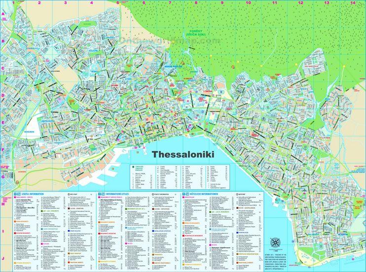 Thessaloniki tourist map | Maps | Pinterest | Tourist map ...