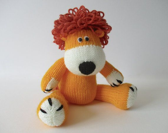Samson The Lion Toy Knitting Pattern Are You Crafty Pinterest