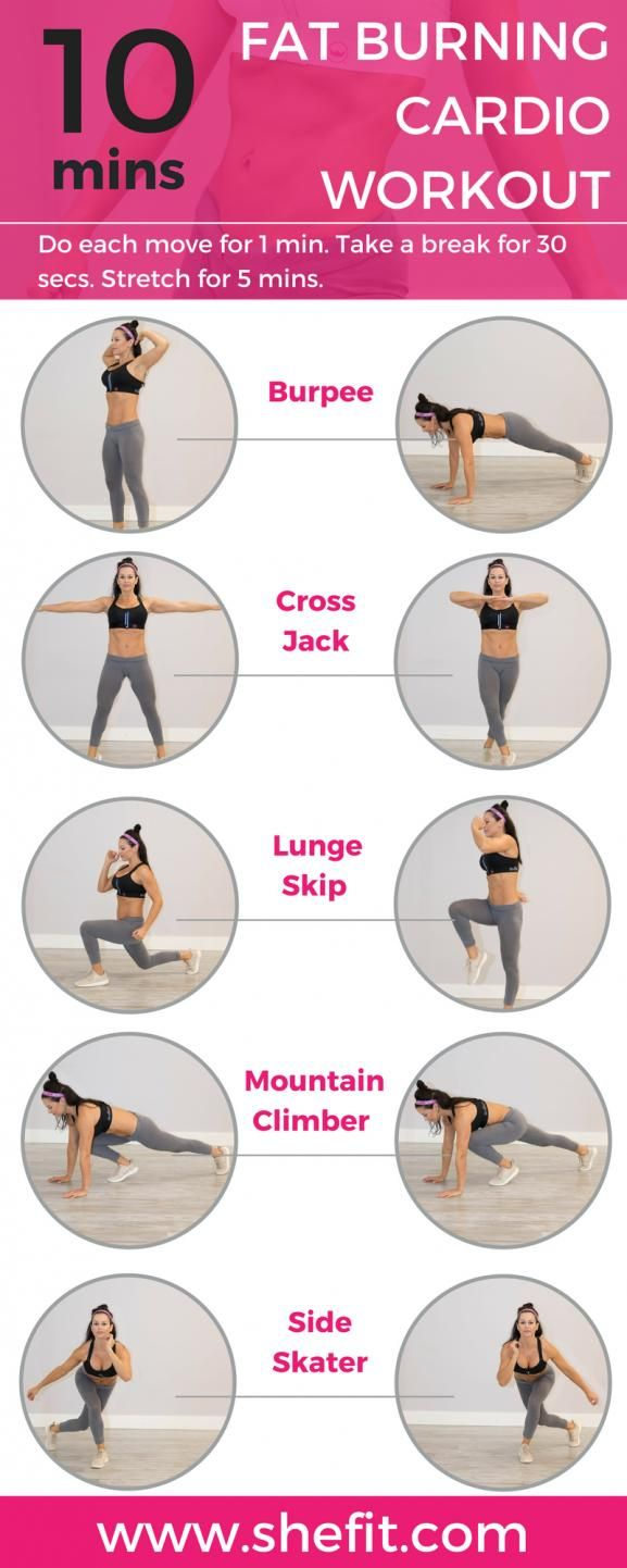 Fast & effective this full body workout combines aerobic activity with body-weig…