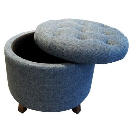 Miraculous Tufted Round Storage Ottoman Threshold Target Theyellowbook Wood Chair Design Ideas Theyellowbookinfo