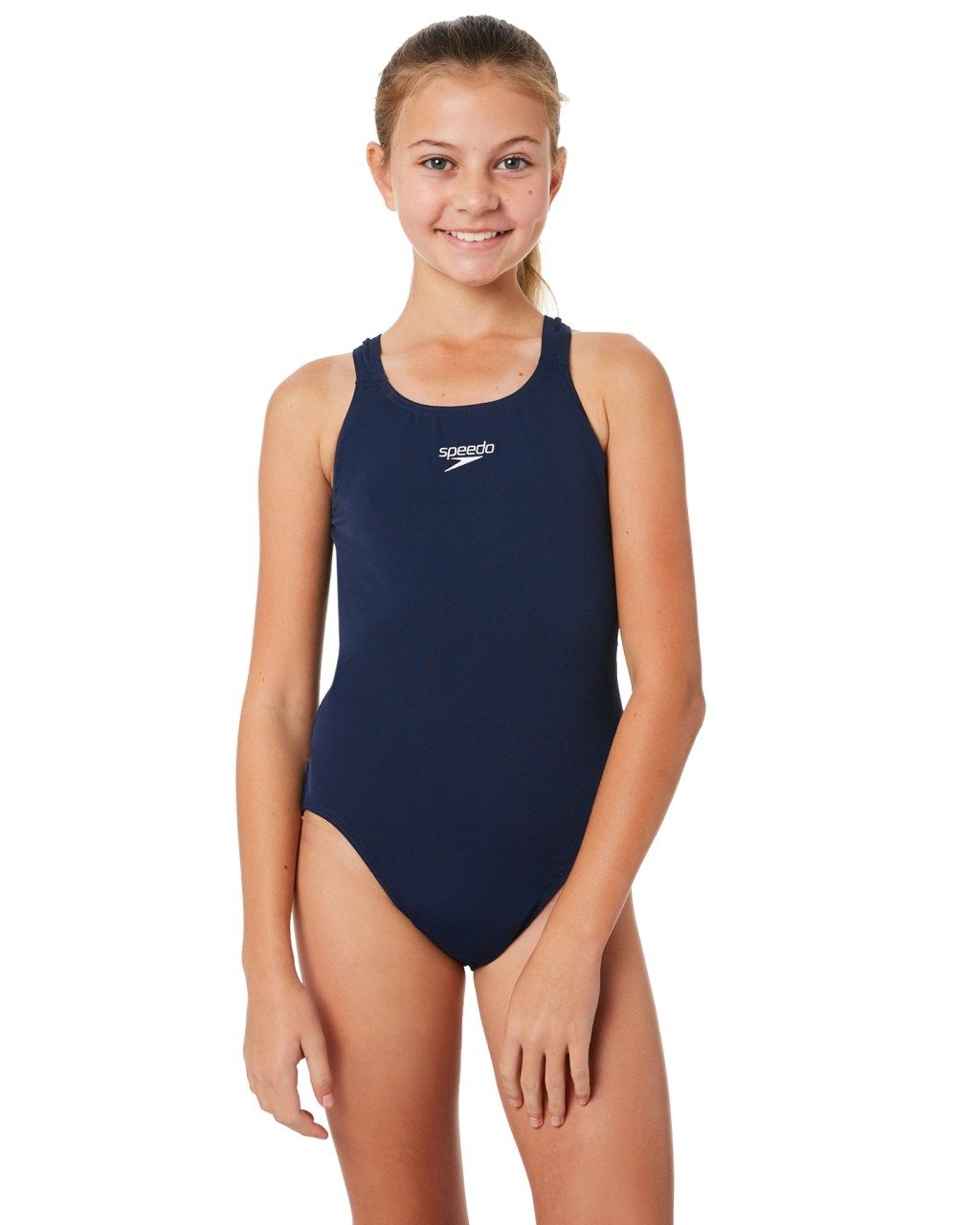 4ab1ab091ca95 Speedo Kids Girls Endurance Medalist One Piece Navy Navy Girls swimsuits  Size 8