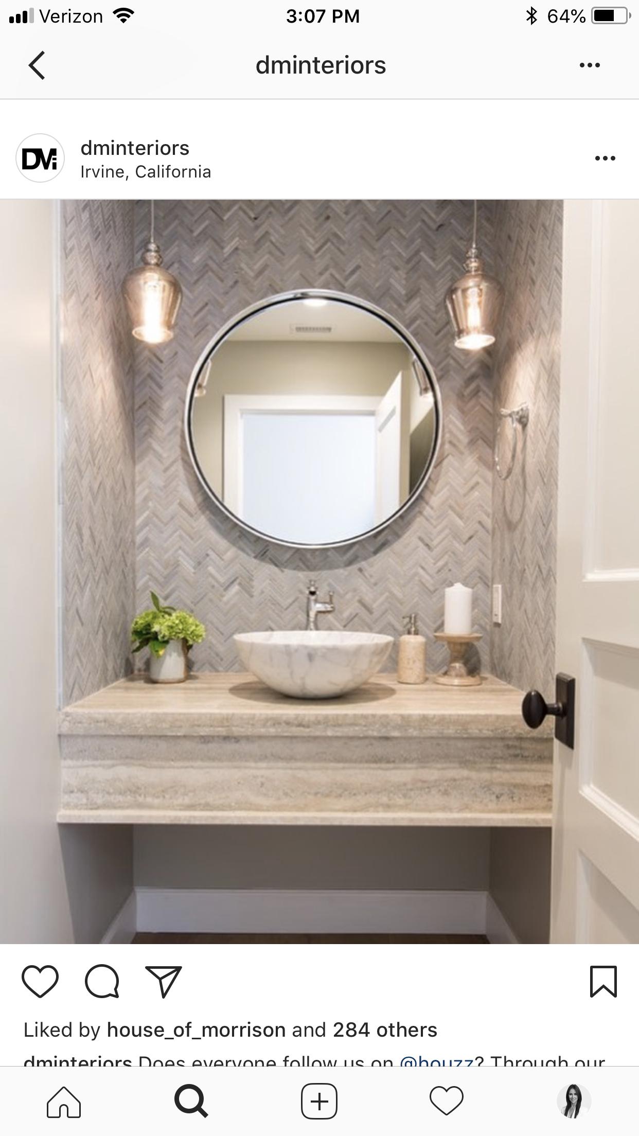 Powder Room By Amy Kartheiser Design: Pin By Amy Winn On 163 Broadway - Bathroom