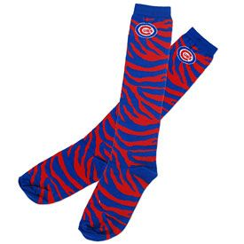 Chicago Cubs Ladies Zebra Striped Socks Cubs Merchandise Chicago Cubs Fans Chicago Cubs