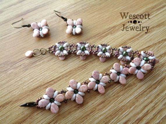 Delicate Blossom Perky Pips Bracelet and by WescottJewelry on Etsy