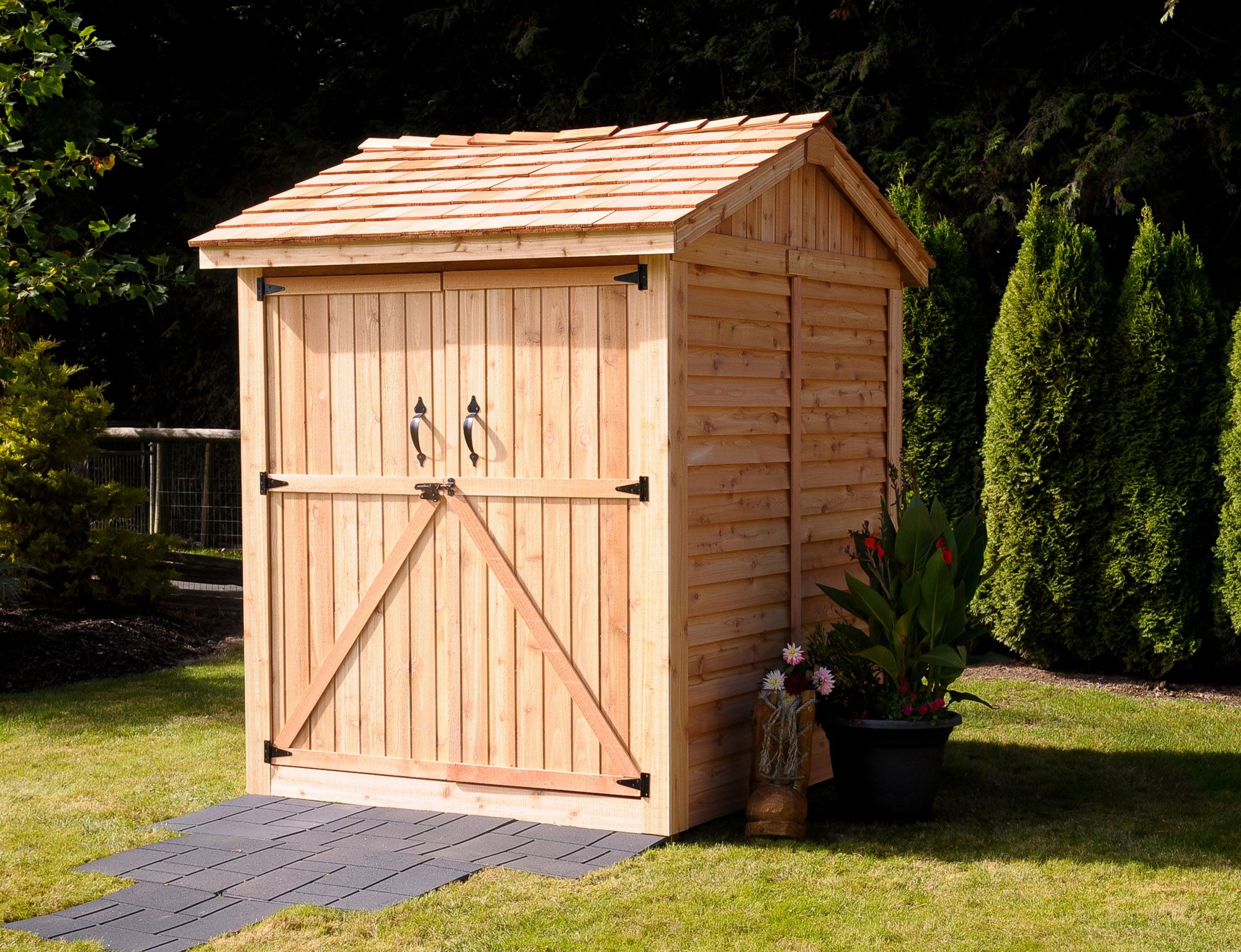 storage sheds lifestyle series 6 x 6 apex storage wooden cedar shed