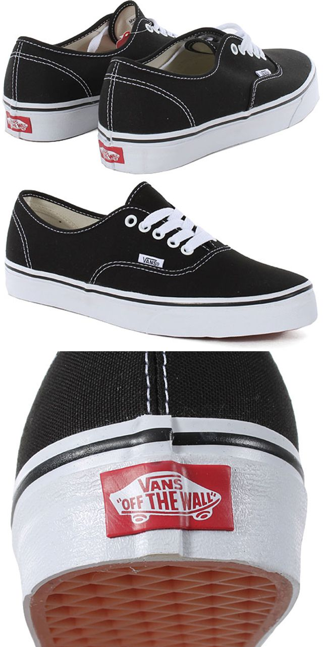 Classic Black Authentics // @Vans Off The Wall #vans #offthewall ...