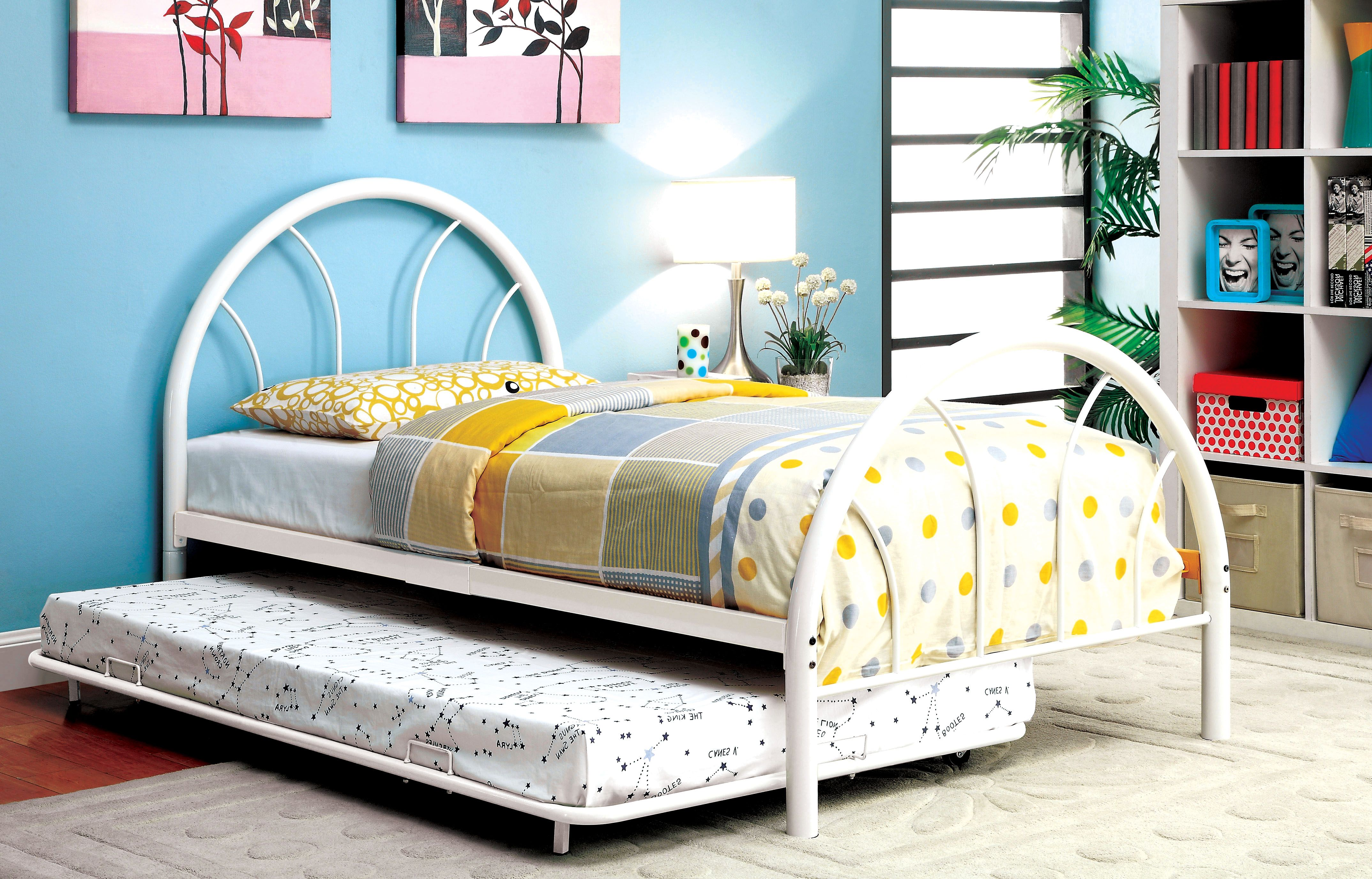 Furniture Of America Spectrum Dual Arc Metal Bed Orange Furniture