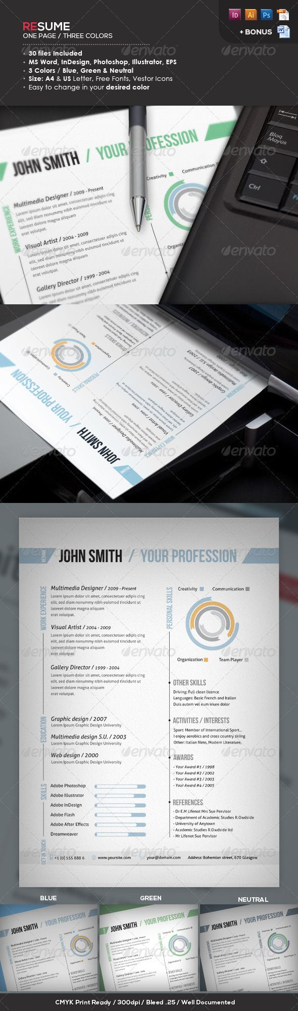 Ready One Page Resume  Cv  Resume Cv Cv Template And Fonts