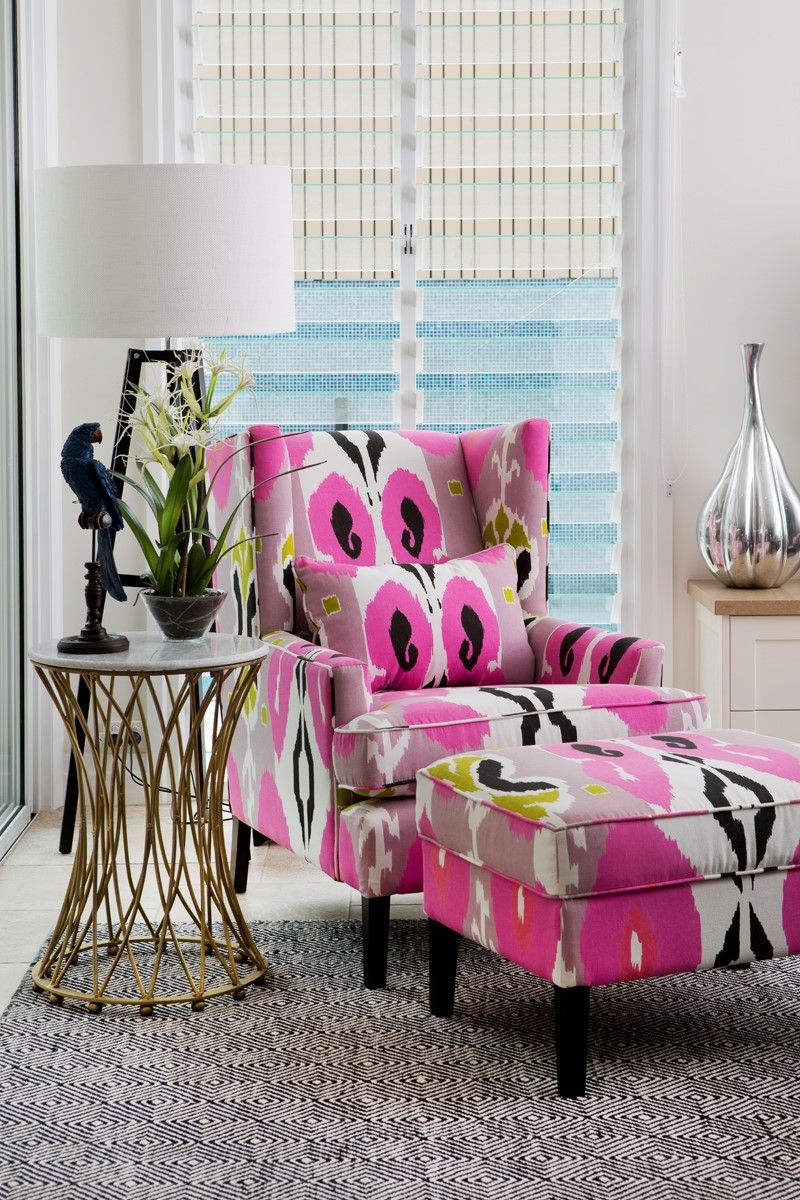 hot pink chair pads