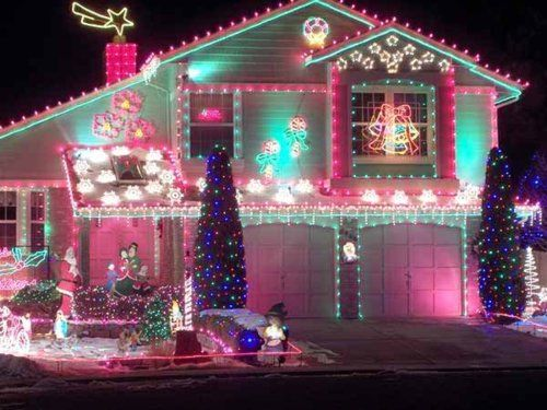 awesome girly colored christmas lights