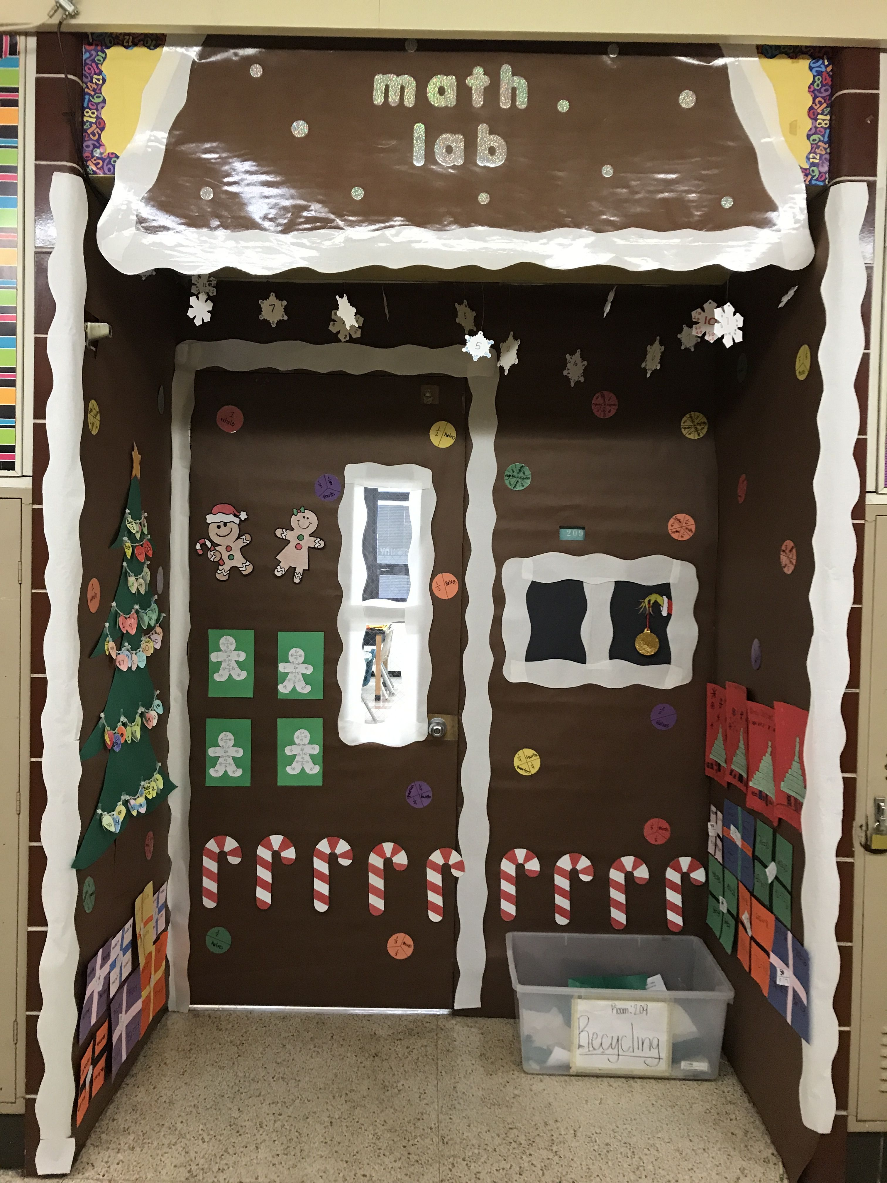 Math Room Gingerbread House Door Math Education
