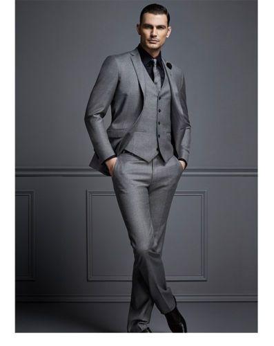 2017 Latest Coat Pant Design Bright Gray Italian Custom ...