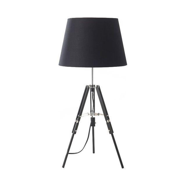 Lampe 3 Pieds Noire Ofu 40w H 64cm Castorama Lamp