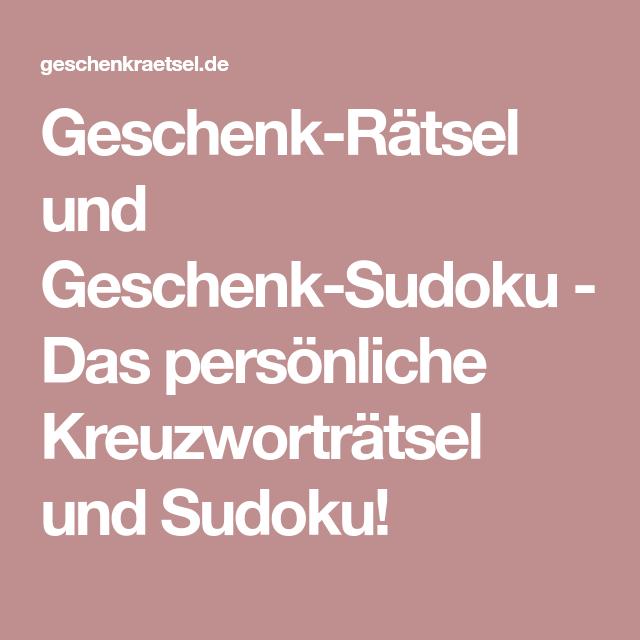 Geschenk Ratsel Und Geschenk Sudoku Das Personliche Kreuzwortratsel Und Sudoku Geschenke Sudoku Hochzeit Spiele