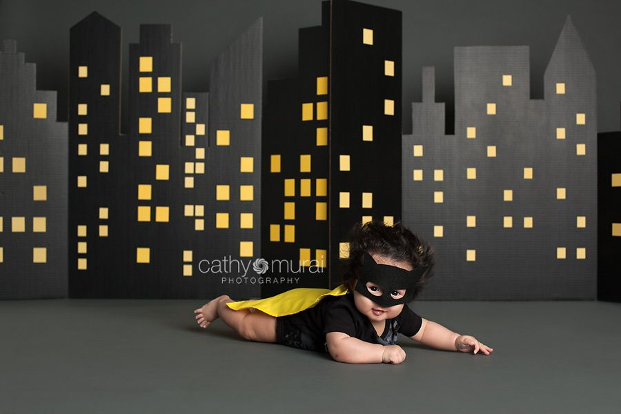Baby Batman Superhero With Wild Hair 100 Day