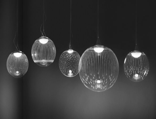 Lighting pendant lights kirchschlag hand engraved crystal glass pendant light by atelier areti within 4 walls