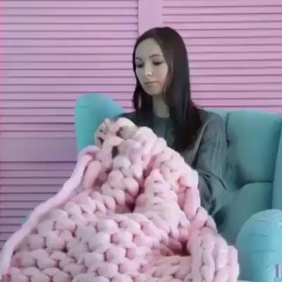 Manta gigante de crochê