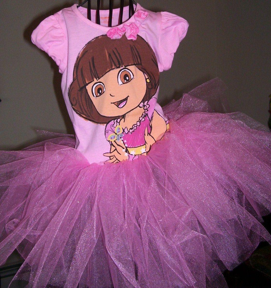 Dora the Explorer pink tutu dress...size 4t .ready to ship. $25.99 ...