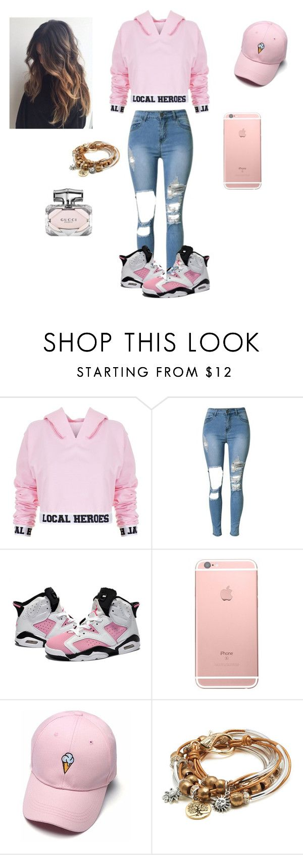 """💗🔪💦"" by official-bria-j ❤ liked on Polyvore featuring Local Heroes, Retrò, Lizzy James and Gucci"