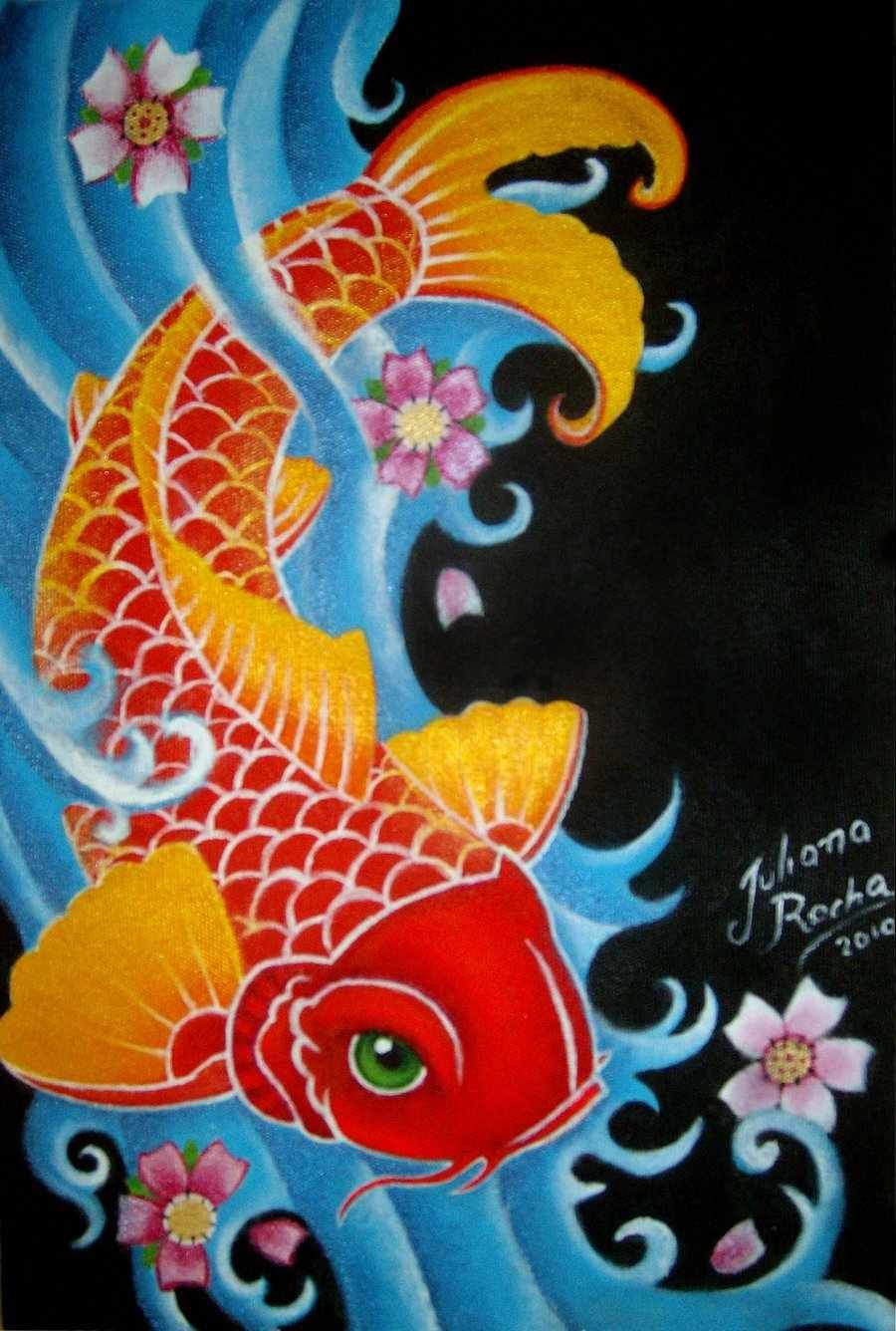 Koi Fish Tattoo Design | Tattoos | Pinterest | Koi fish tattoo, Fish ...