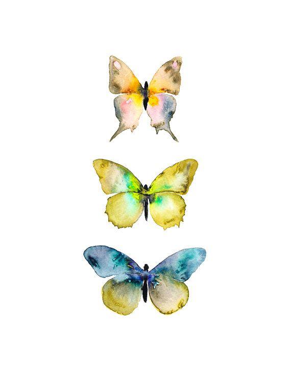 Watercolor Butterflies - #truscadalovesbutterfly #farfalle #decorazione #colori #decoro #ispirazione #unghie #nailart