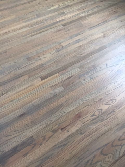 Red Oak Floors With Clic Grey And Weathered Stain Jade