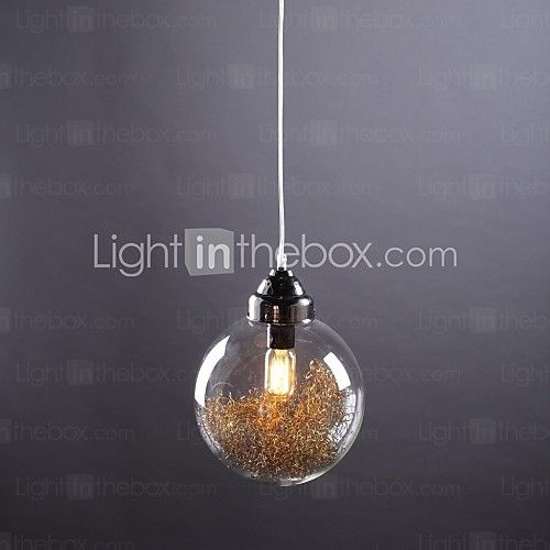 Pendant Lights 1 Light Rustic Style Nickle Glass - GBP £65.69
