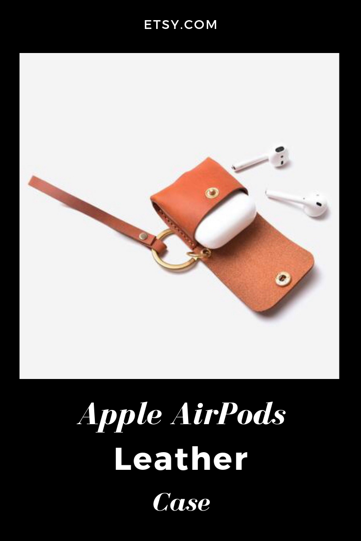 info for 2da29 bbfe6 AirPod Case, Leather AirPod Case with Strap, Airpods Case, Airpods ...