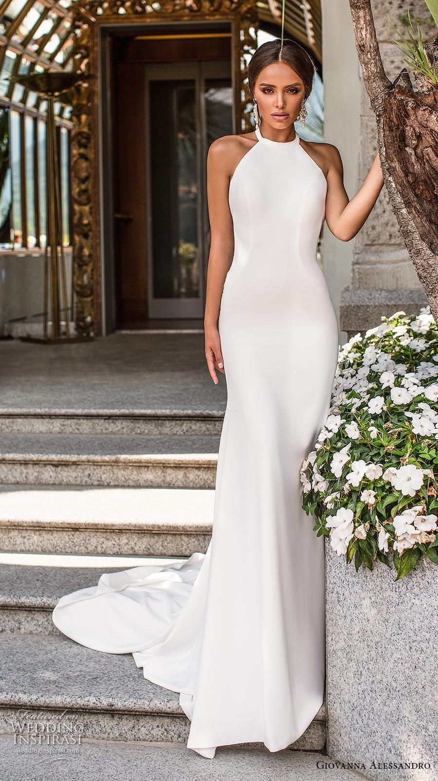 Giovanna Alessandro 2019 Wedding Dresses Magica Milano Bridal Collection Wedding Inspirasi Sheath Wedding Dress Backless Halter Wedding Dress Top Wedding Dresses [ 1604 x 900 Pixel ]
