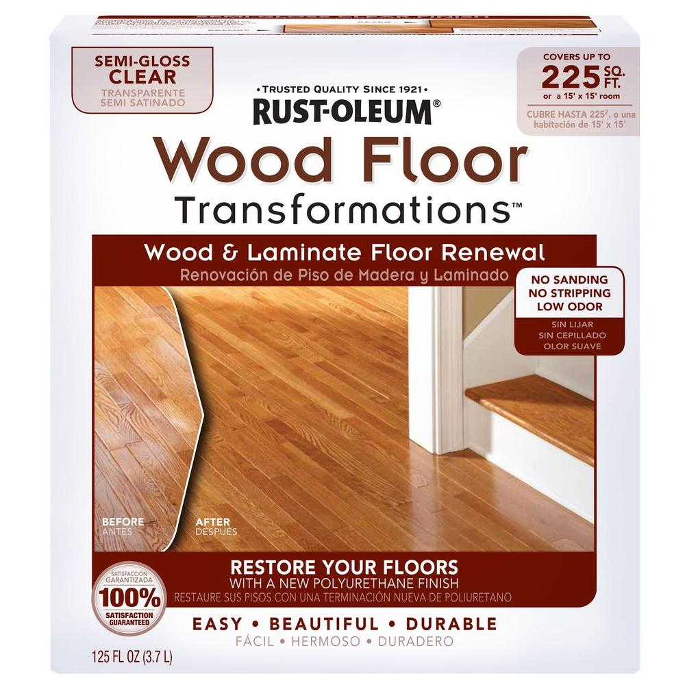Rust Oleum Transformations Floor Wood And Laminate Renewal Kit 269597 The Home Depot In 2020 Refinishing Floors Refinishing Hardwood Floors Sanding Wood Floors