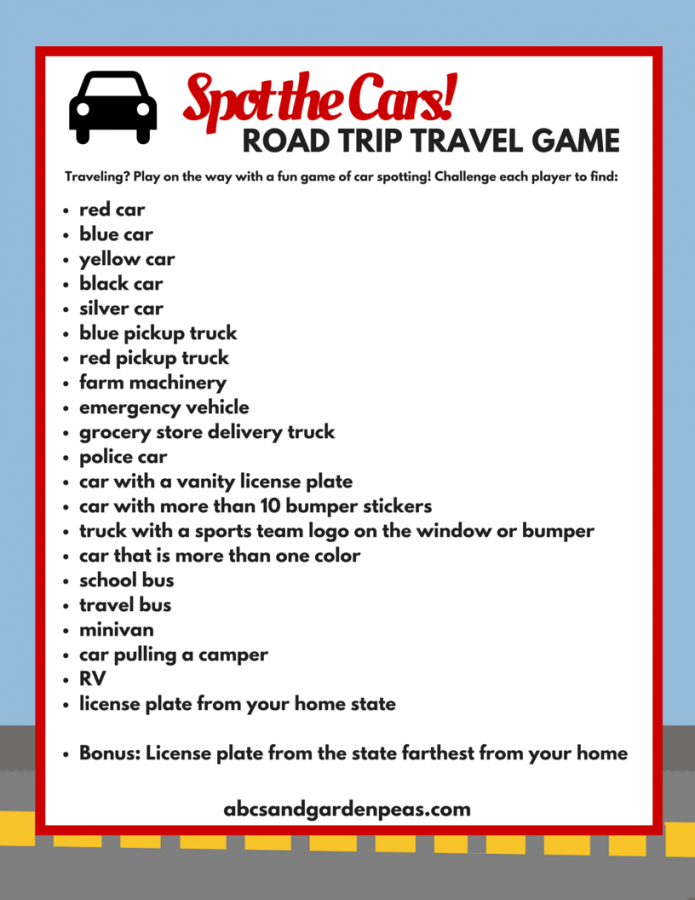 Spot The Cars Printable Travel Game For Kids Road Trip Printables Family Car Trip Road Trip Activities