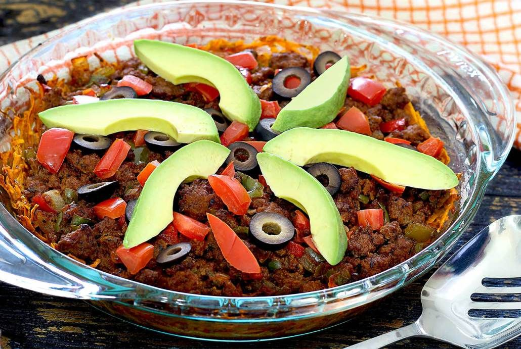 Paleo taco casserole with sweet potato crust recipe paleo taco are you a mexican food lover like me if youve followed this paleo forumfinder Images