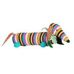 Zugluftstopper Dackel Häkeln Crochet Couture Tricot Crochet