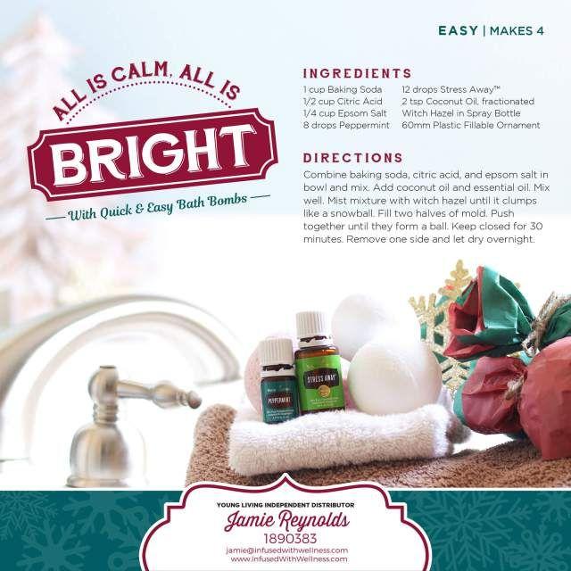 DIY Quick & Easy Bath Bomb Recipe (+ 8 more DIY holiday gifts).  www.infusedwithwellness.com #bathbomb #DIY #holidaygifts