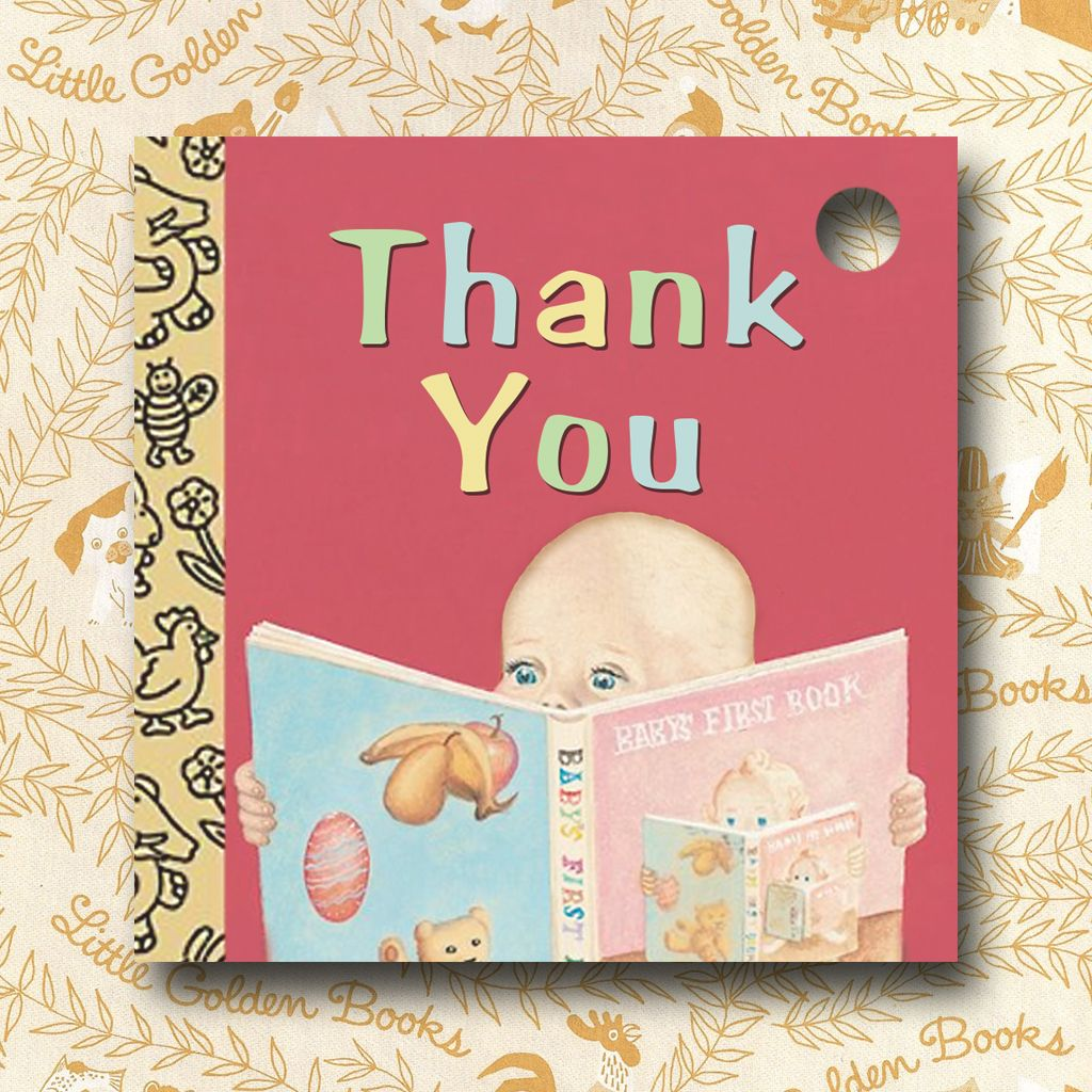 Favor Tag: Thank You Tag for Little Golden Book Baby Shower | Mary\'s ...