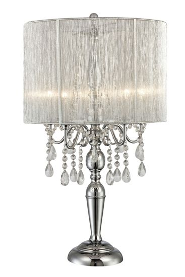 Pin By Edgewater Essentials On Bedroom Ideas Chandelier Table Lamp Silver Table Lamps Glam Lamps